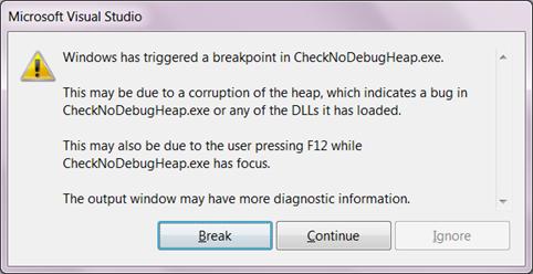 Accelerating Debug Runs, Part 1: _NO_DEBUG_HEAP | Ofek's Visual C++