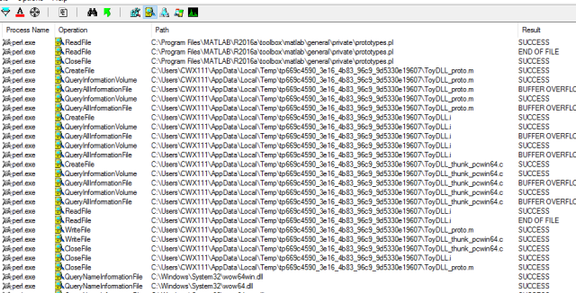 On Matlab's loadlibrary, proto file and pcwin64 thunk
